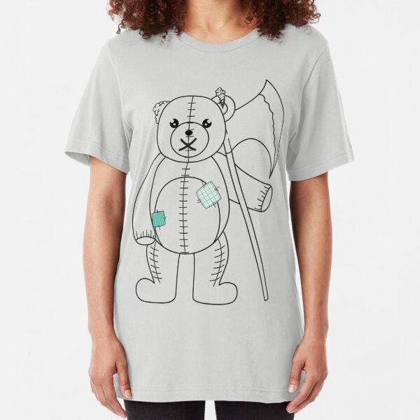 Teddy mit Axt Slim Fit T-Shirt