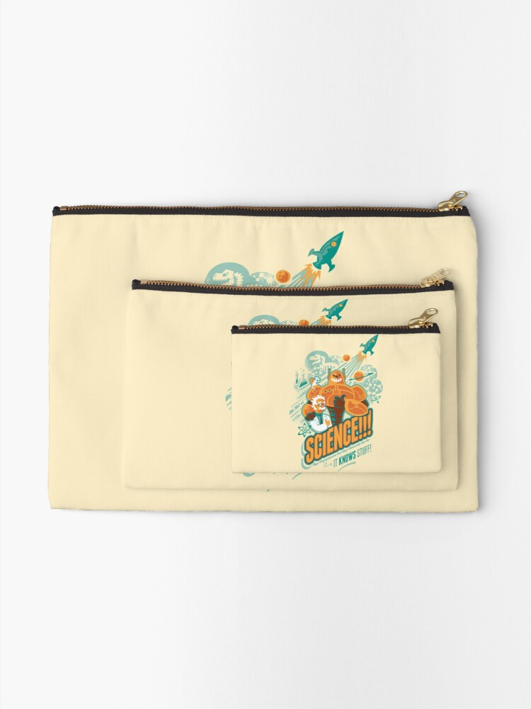 Alternate view of Science!!! It Knows Stuff! Zipper Pouch