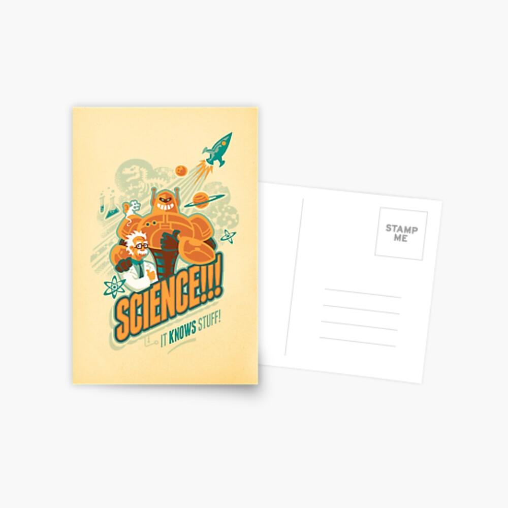 Science!!! It Knows Stuff! Postcard