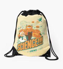 Science!!! It Knows Stuff! Drawstring Bag