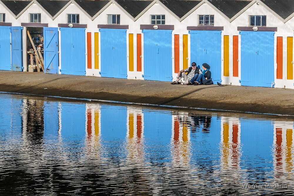 Relaxing at the Boat Sheds by Werner Padarin