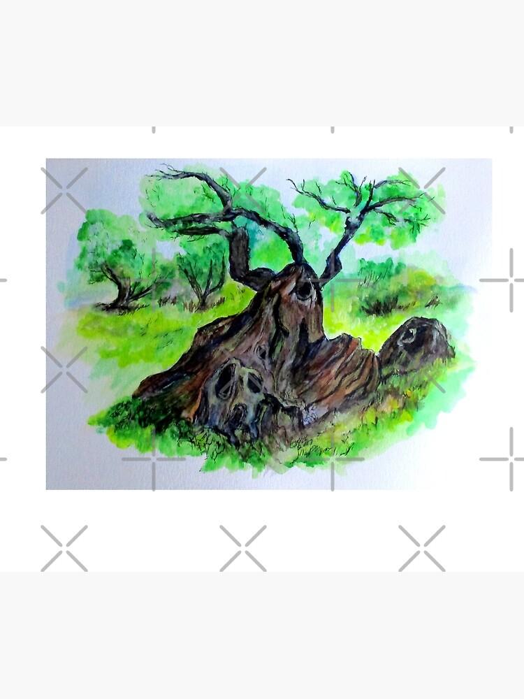 Olive Tree & Grove Digital Enhanced by cjkell