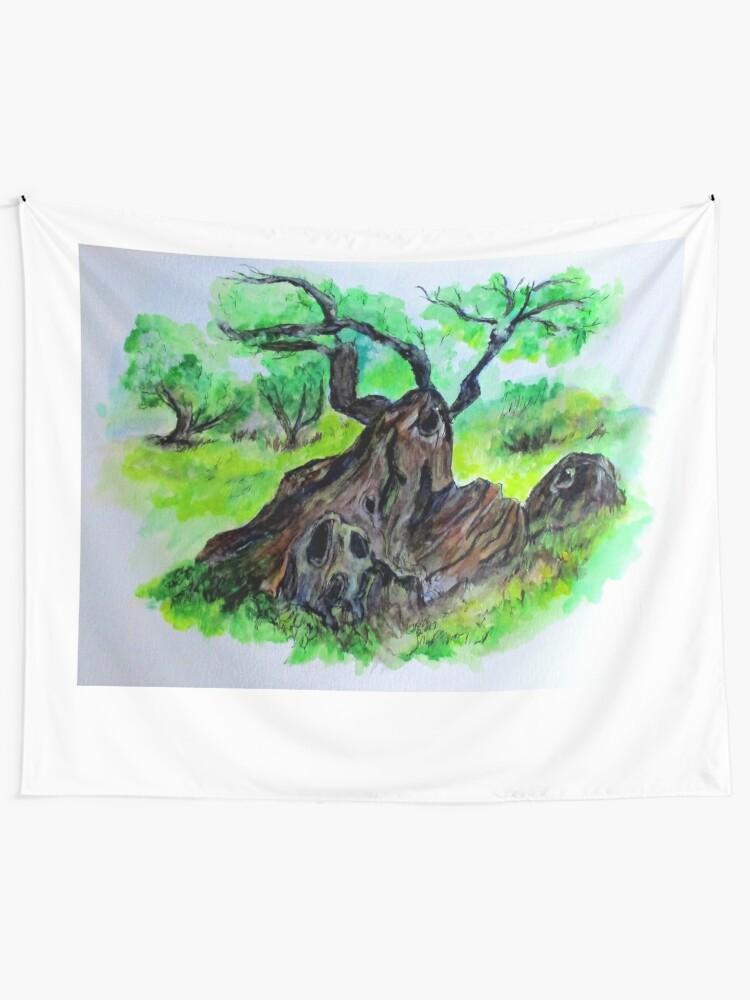 Alternate view of Olive Tree & Grove Digital Enhanced Tapestry