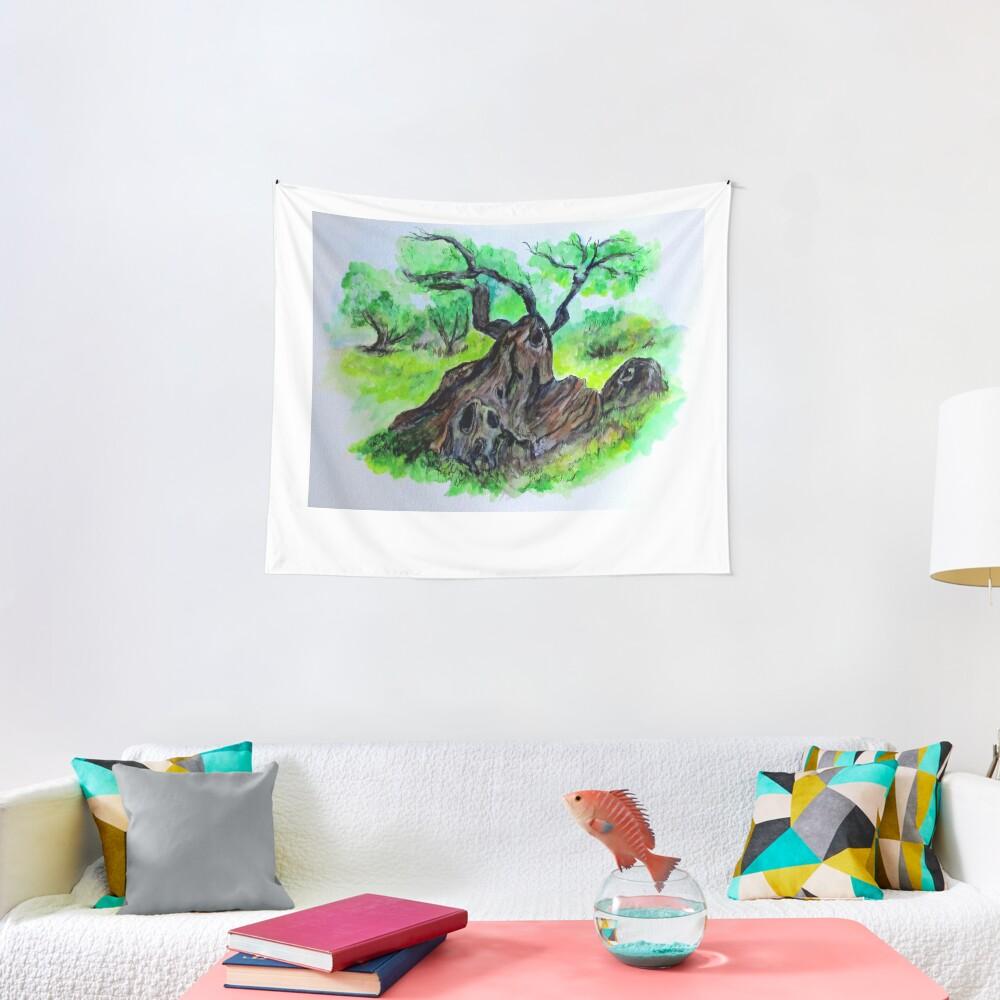 Olive Tree & Grove Digital Enhanced Tapestry