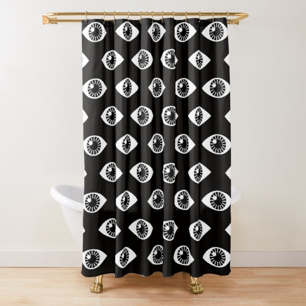 Eyes Wide Open - on Black Shower Curtain