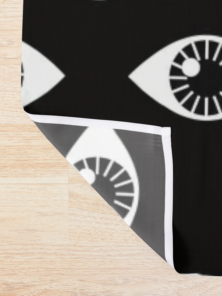 Alternate view of Eyes Wide Open - on Black Shower Curtain