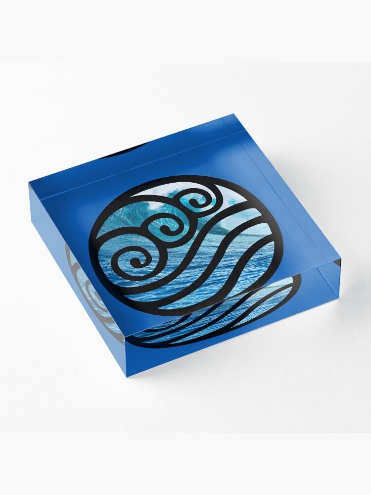 Alternate view of Waterbending - Avatar the Last Airbender Acrylic Block