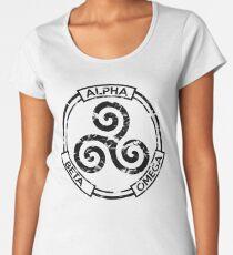 Alpha Beta Omega (Black) - Teen Wolf Women's Premium T-Shirt