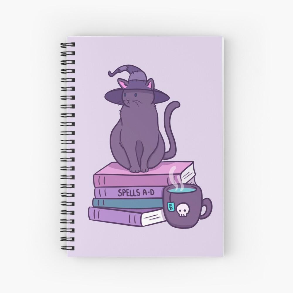 Feline Familiar   Nikury Spiral Notebook
