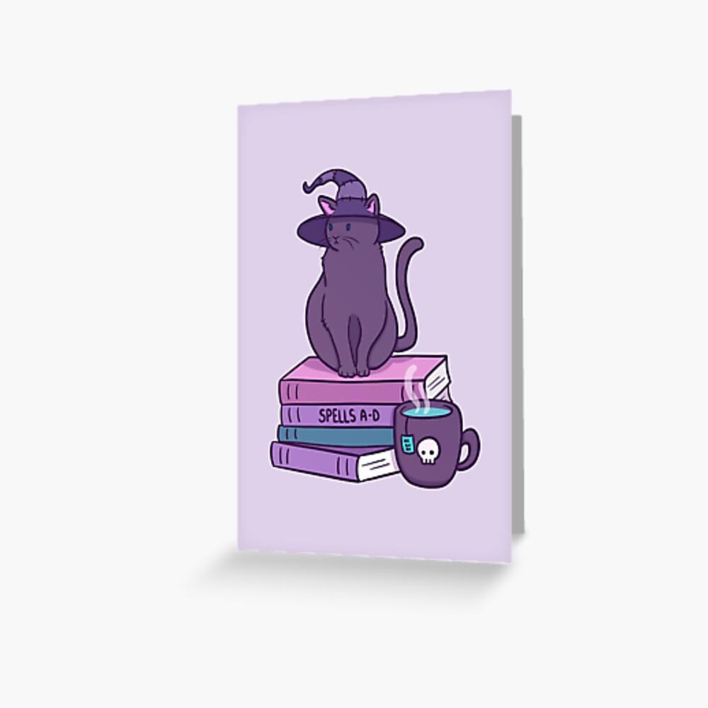 Katzenartige Vertraute Grußkarte