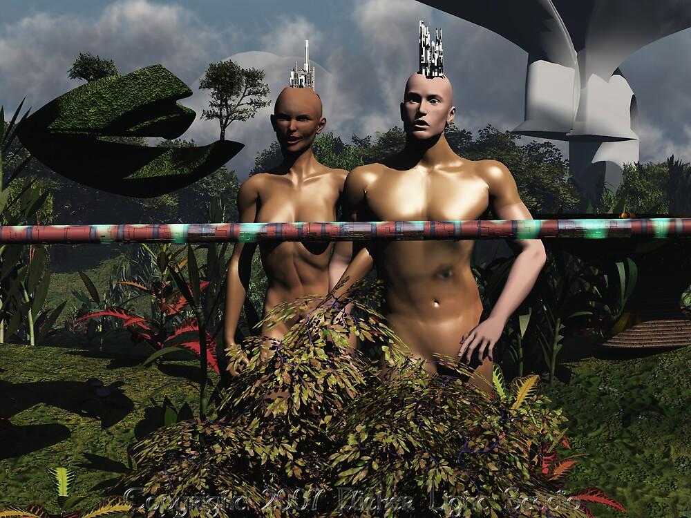 Bar the Way; Atom and Eve by FlickerLightStudio