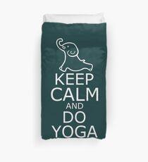 Yoga Elephant - Keep Calm and do Yoga Shirt Duvet Cover