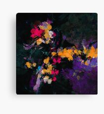 Purple and Yellow Abstract / Modern Painting Canvas Print