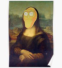 Rick and Morty Mona Lisa Poster