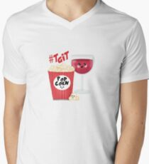 wine and popcorn V-Neck T-Shirt