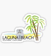 Laguna Beach Palm Trees Sticker