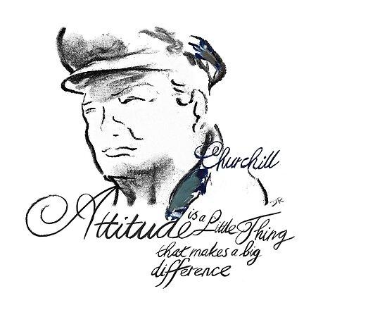 Winston  Churchill Picture Quote - Attitude by Douglas Rickard