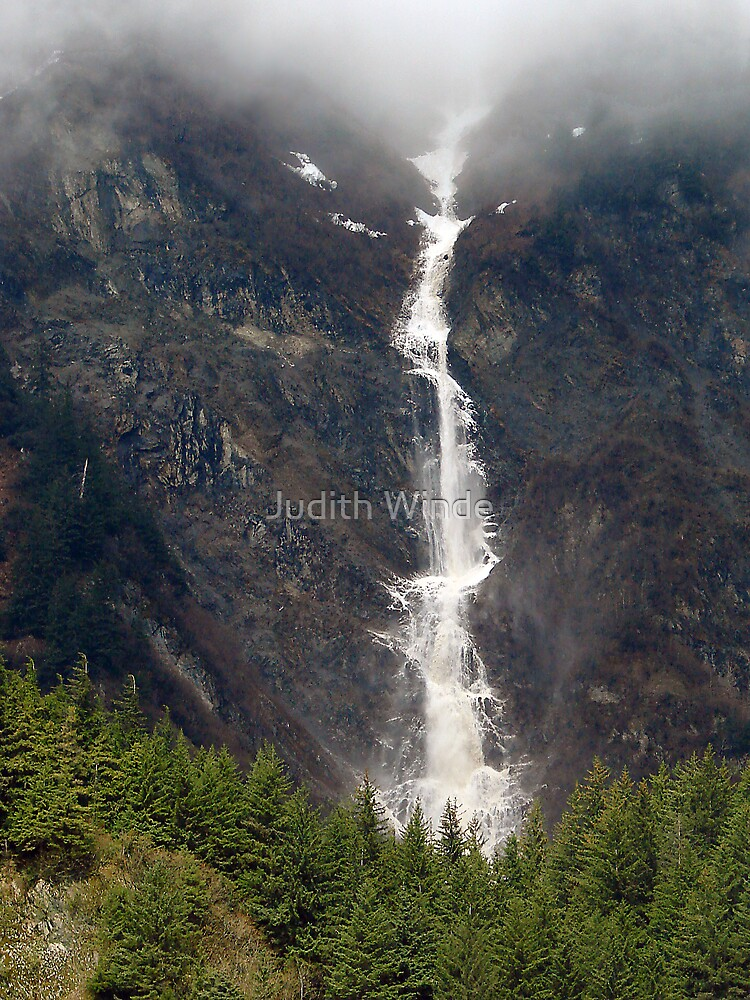 Avalanche over Juneau by Judith Winde