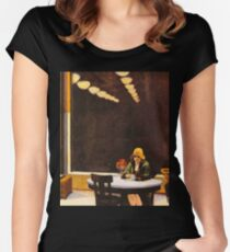 Vintage Edward Hopper Automat Women's Fitted Scoop T-Shirt