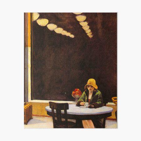 Vintage Edward Hopper Automat Art Board Print
