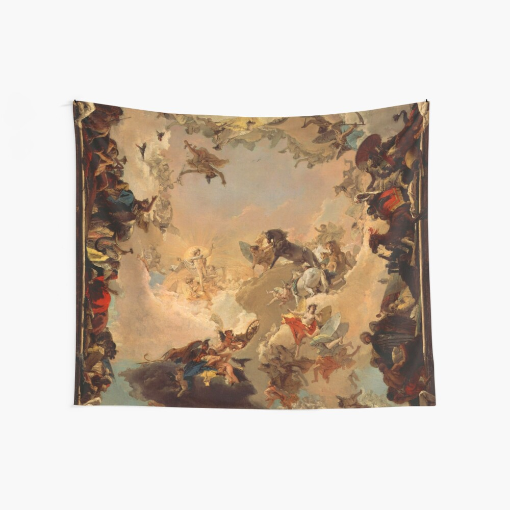 Allegory of the Planets and Continents Wall Tapestry