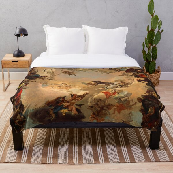Allegory of the Planets and Continents Throw Blanket