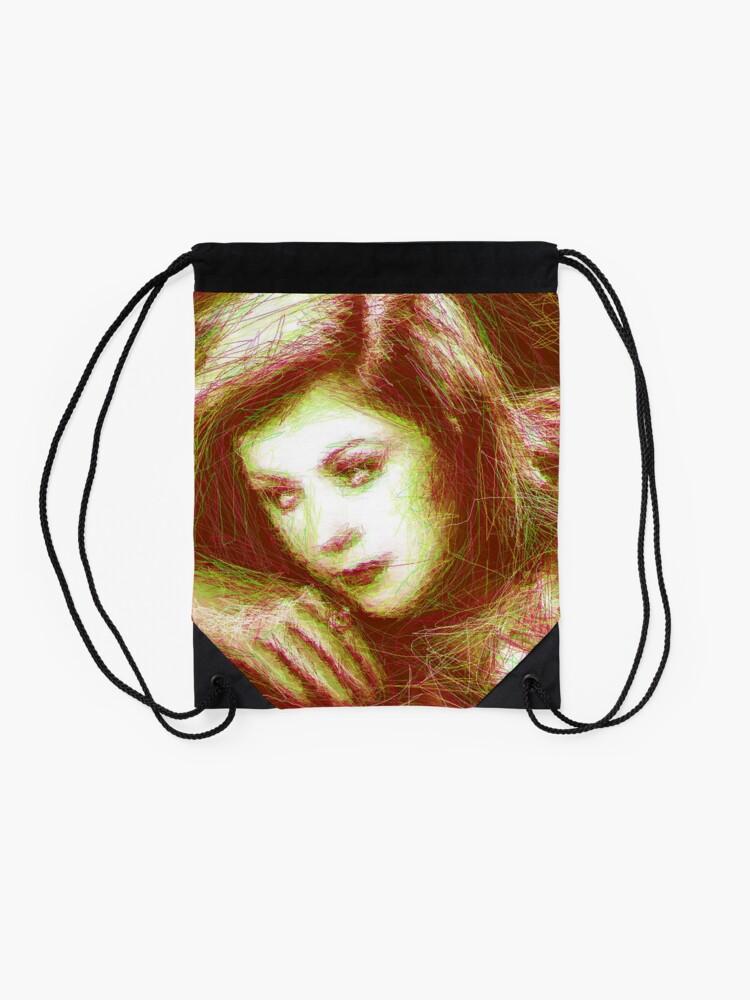 Alternate view of ScribbleKirsty Drawstring Bag