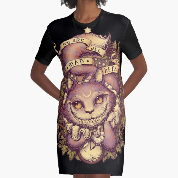 CHESHIRE CAT Graphic T-Shirt Dress