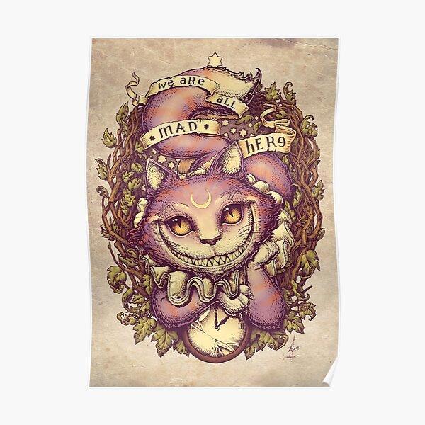 con el gato de Cheshire Póster
