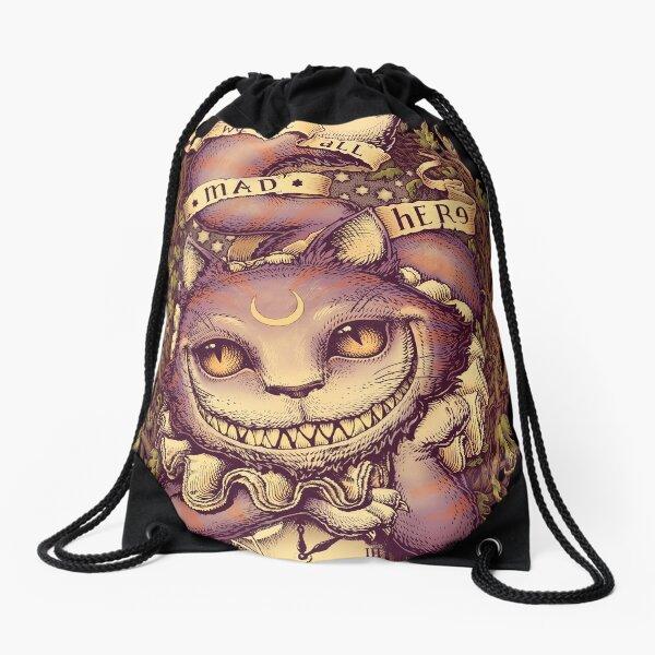 mettant en vedette Cheshire Cat Sac à cordon