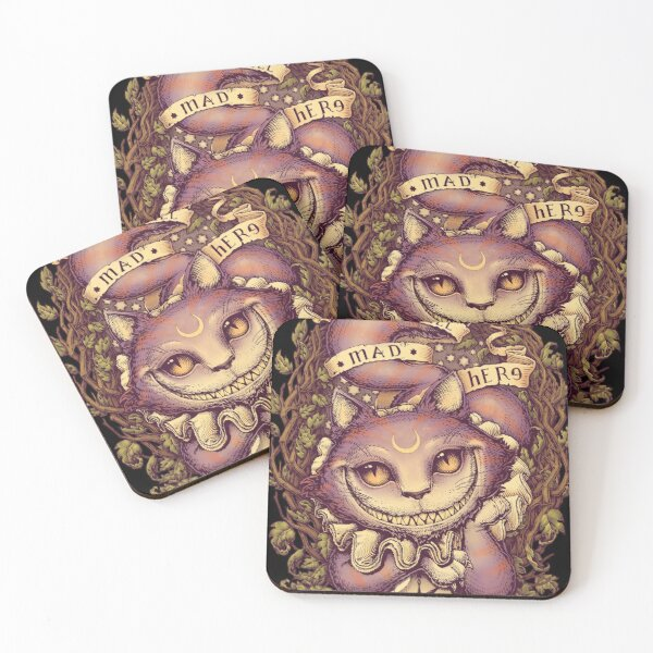 CHESHIRE CAT Coasters (Set of 4)