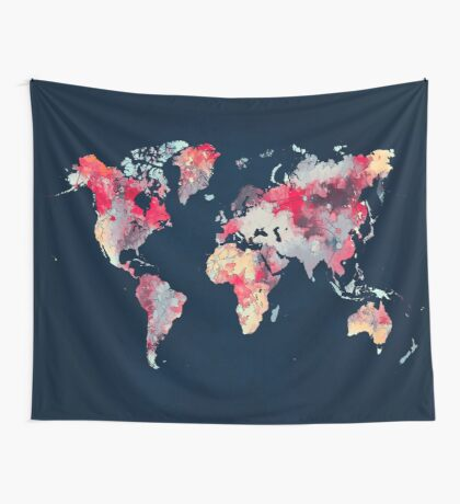 world map 69 Wall Tapestry