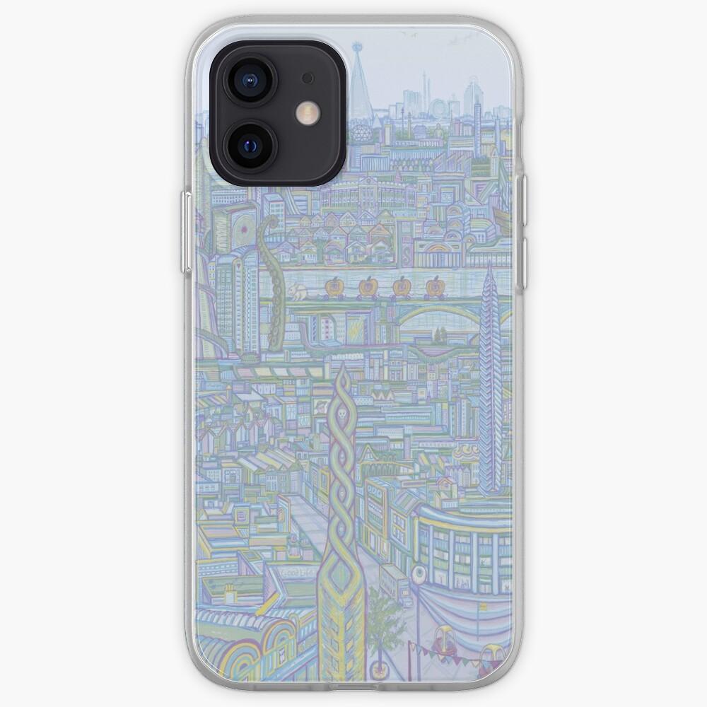 THE MEGATROPOLIS (cool hues) iPhone Case & Cover