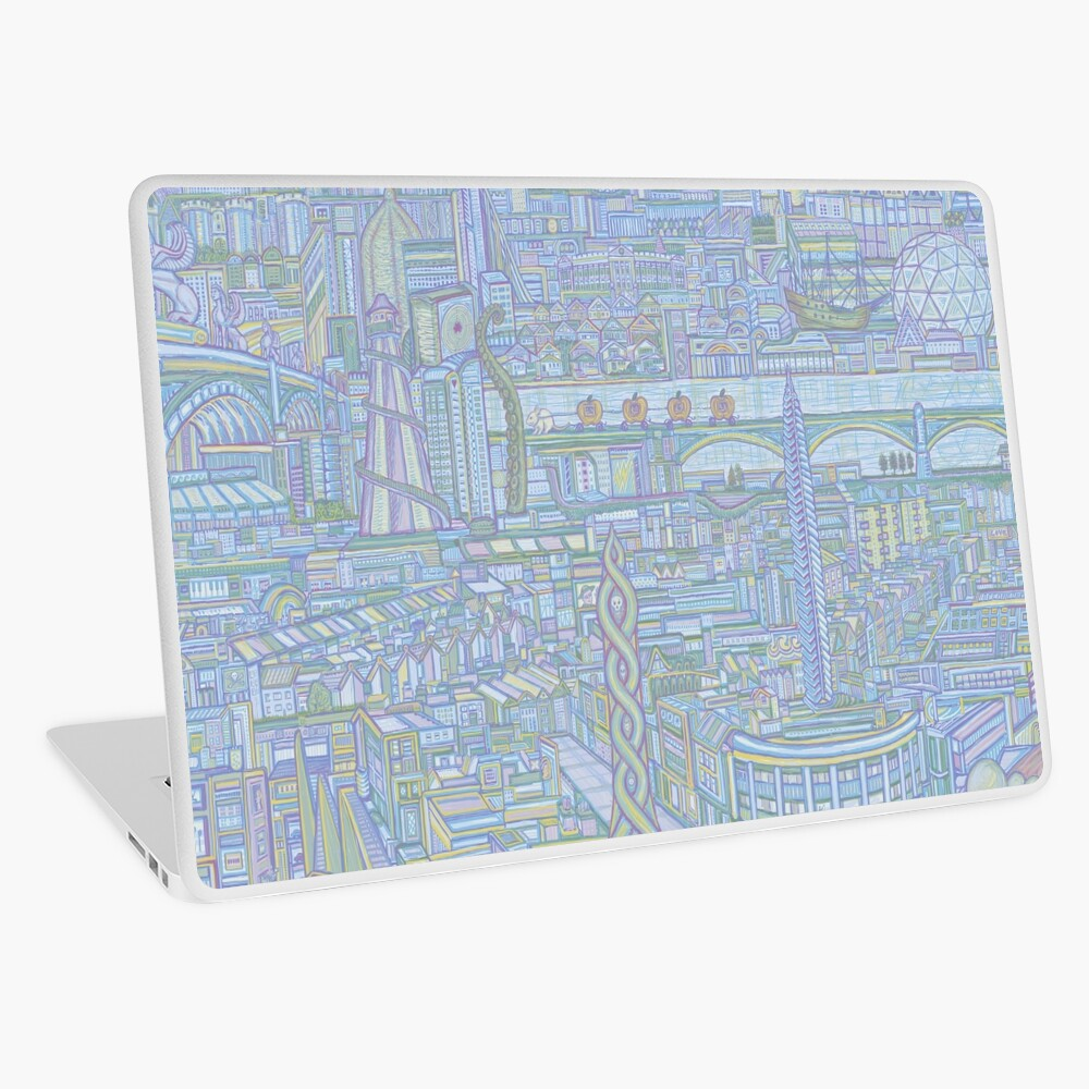 THE MEGATROPOLIS (cool hues) Laptop Skin
