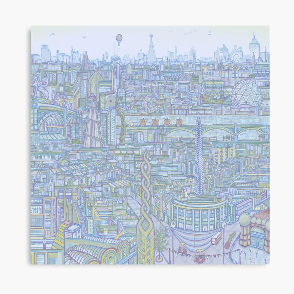 THE MEGATROPOLIS (cool hues) Canvas Print