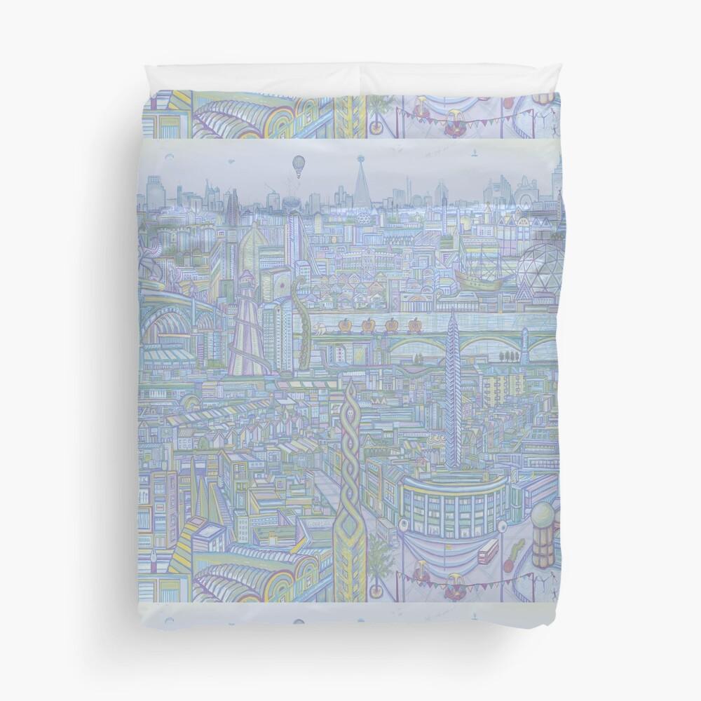 THE MEGATROPOLIS (cool hues) Duvet Cover