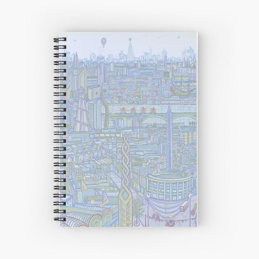 THE MEGATROPOLIS (cool hues) Spiral Notebook
