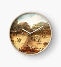 Bullfight in a Divided Ring Clock