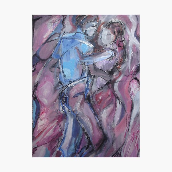 Dancers in Pink Waves Photographic Print