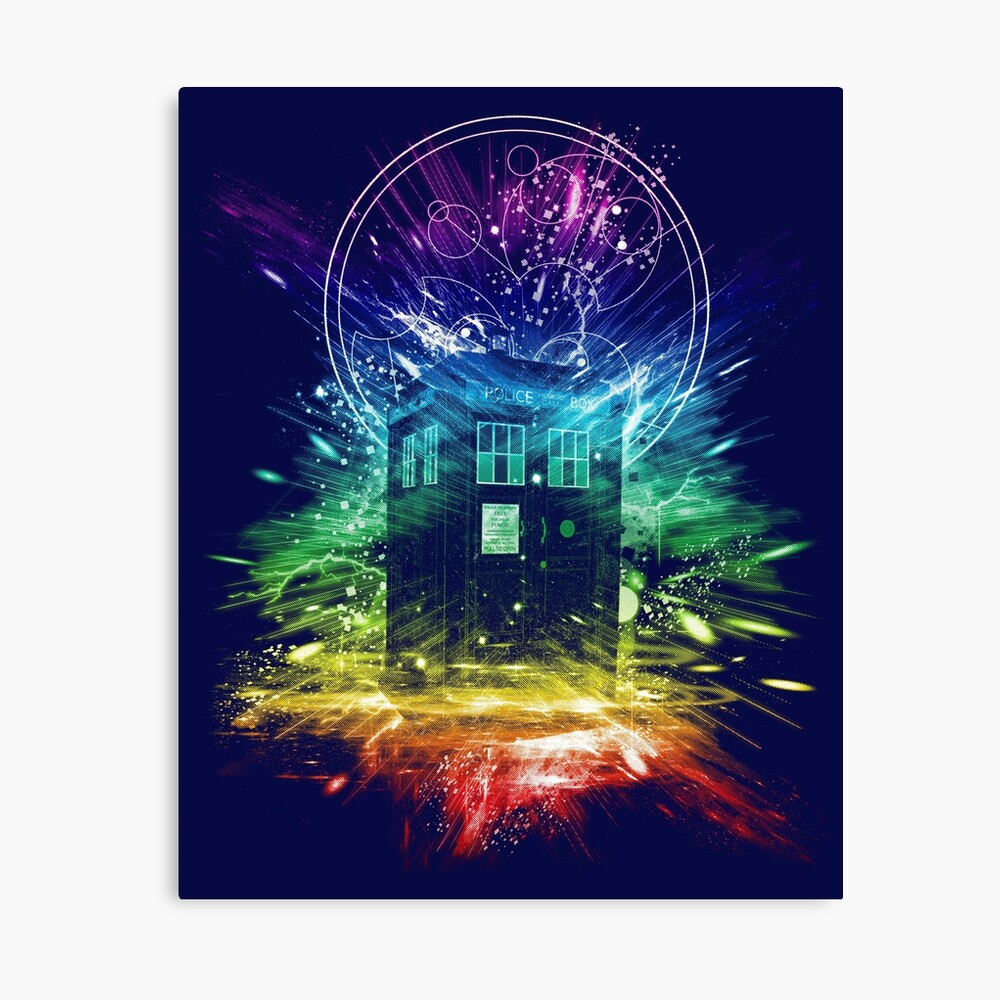 time storm-rainbow version Canvas Print