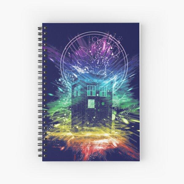 time storm-rainbow version Spiral Notebook