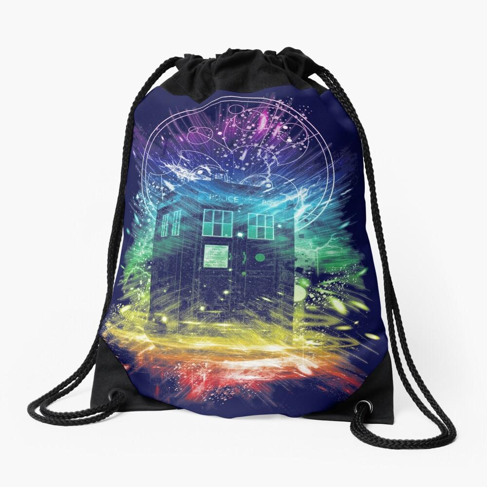 time storm-rainbow version Drawstring Bag