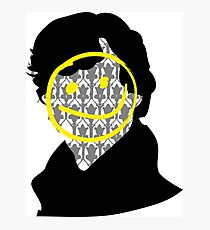 Sherlock Smiley Face Photographic Print