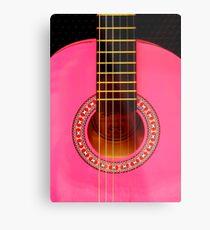 Pink Guitar Metal Print