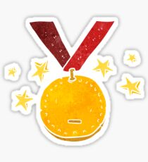 retro cartoon sports medal Sticker