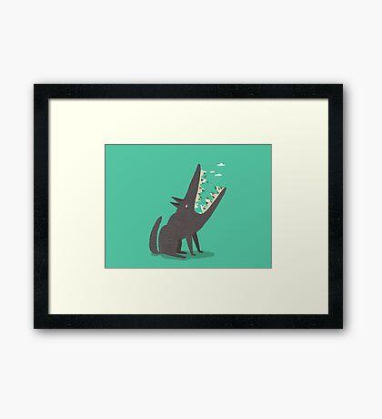 Au loup ! Framed Print