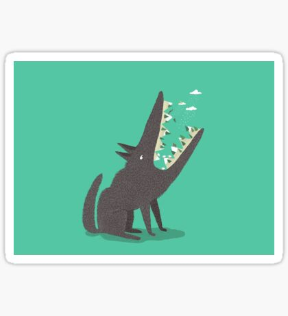 Au loup ! Sticker
