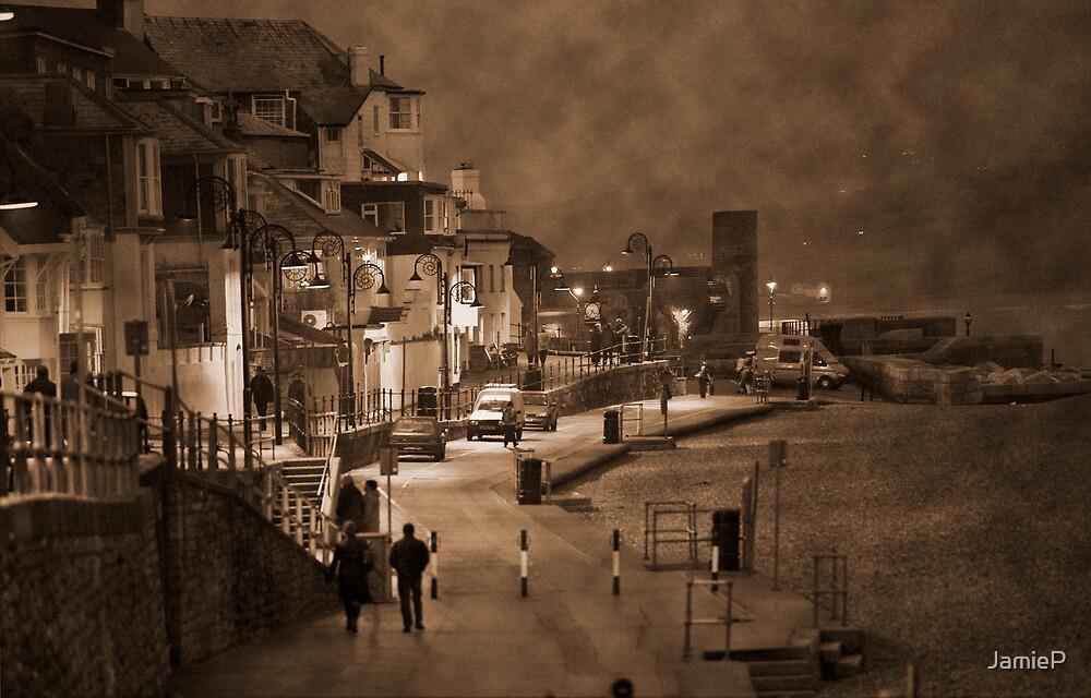 Lyme Regis by night by JamieP