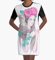 Blossomtime Graphic T-Shirt Dress