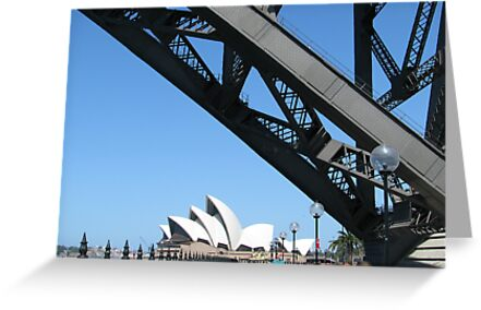 Sydney Opera House and Harbour Bridge by tdierikx
